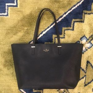 Kate Spade Black Leather Tote Large